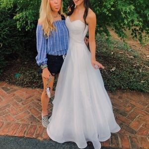 Shimmery White Prom/ Hoco/ Wedding Dress!